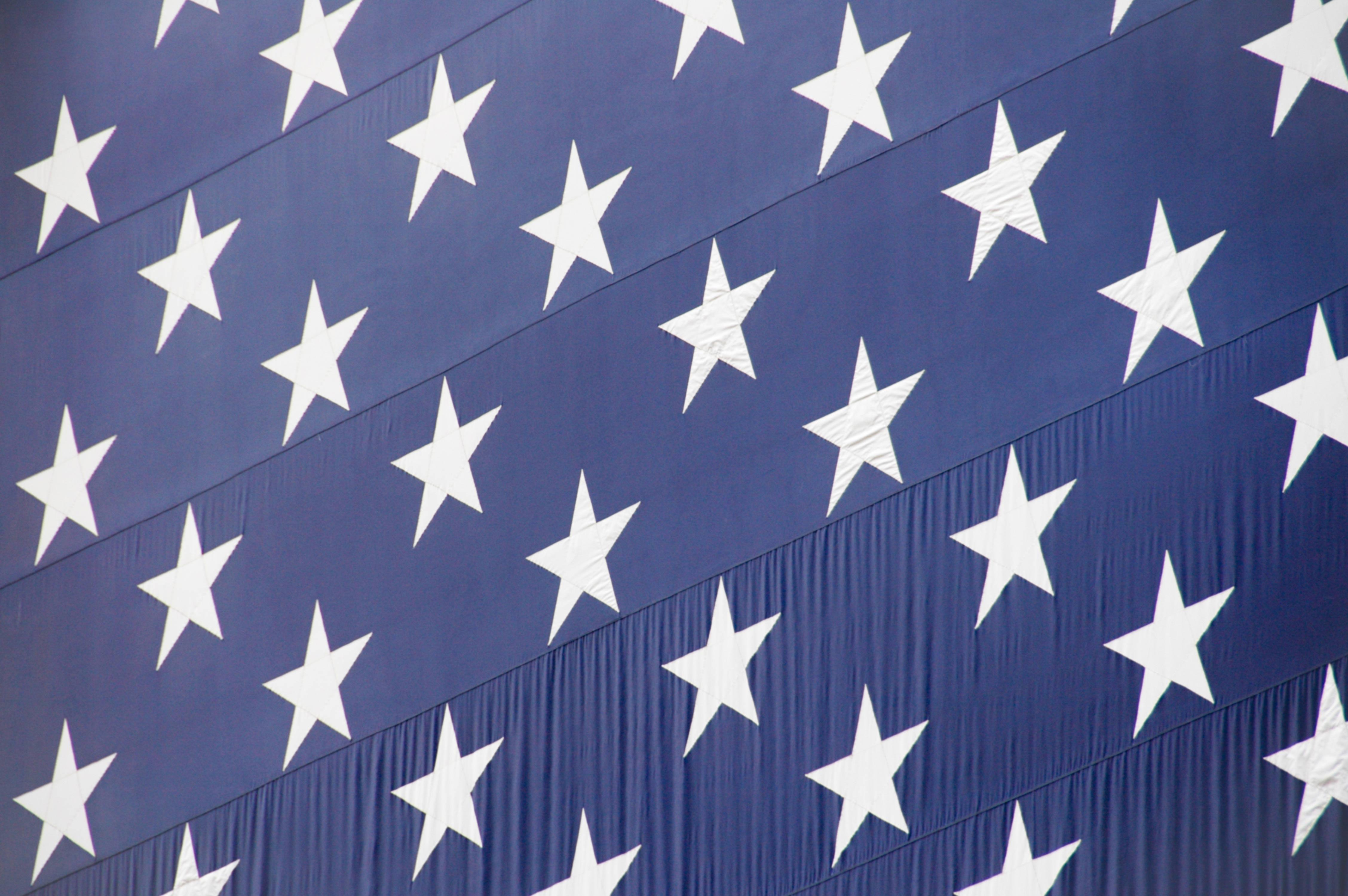 Stars banner flag background
