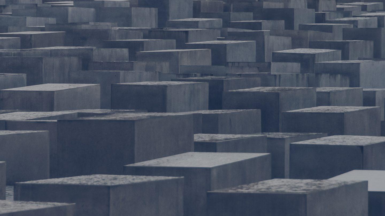 Stone blocks formation holocaust monument