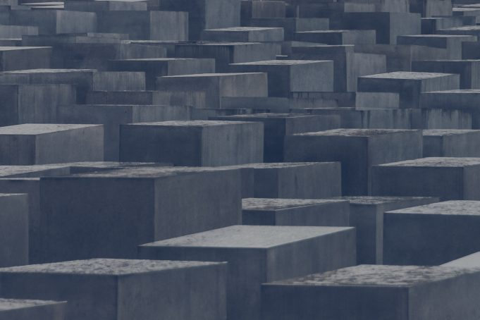 Stone blocks formation holocaust monument