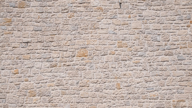 Stone wall wave pattern