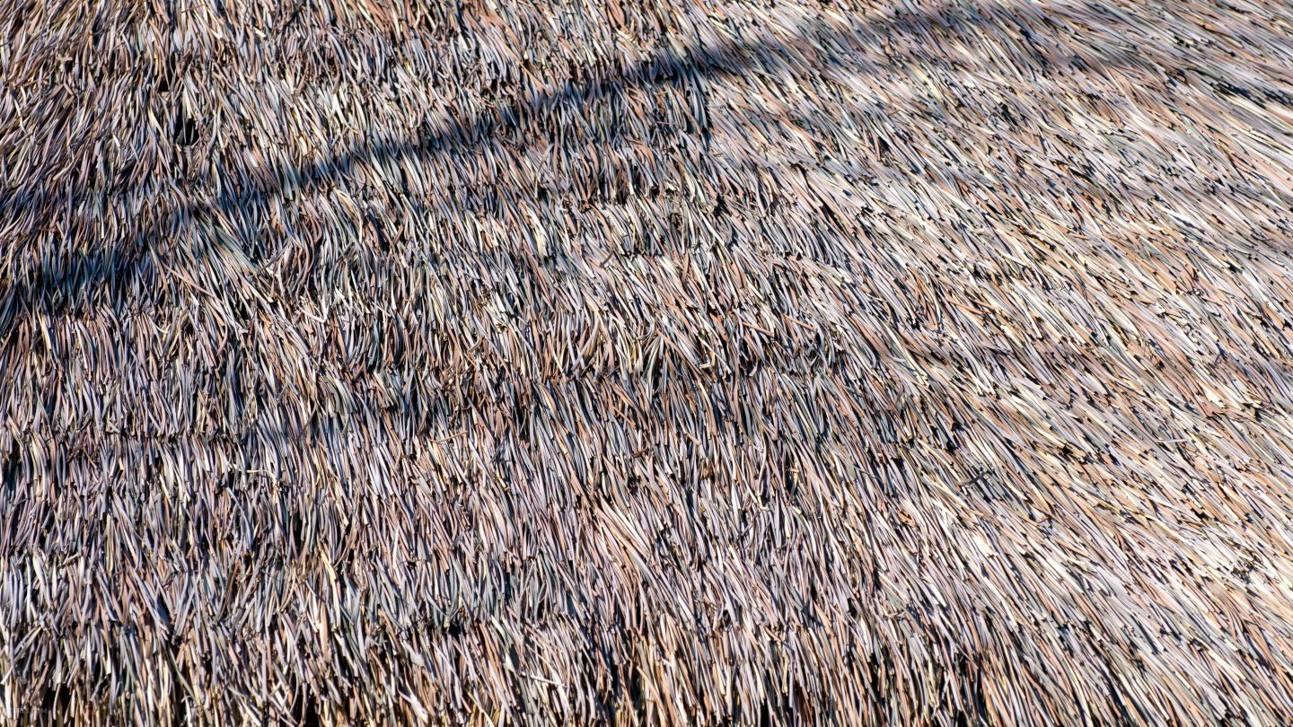 Straw roofing texture