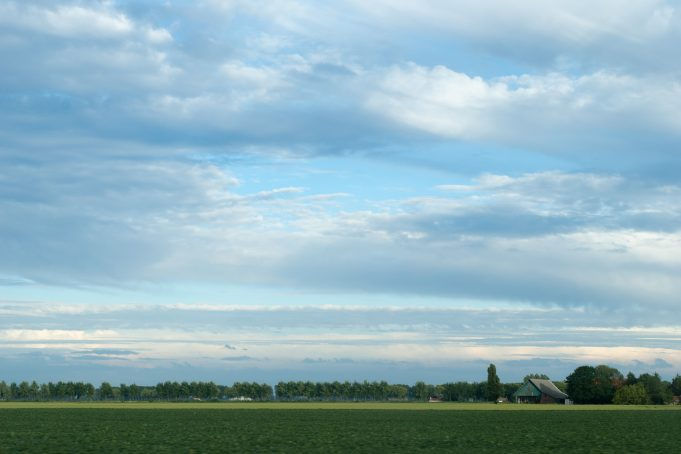 Stretched clouds landscape