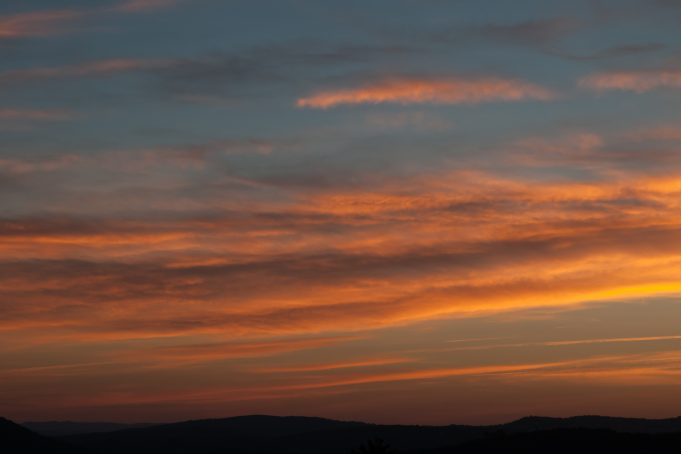 Striped sunrise sky