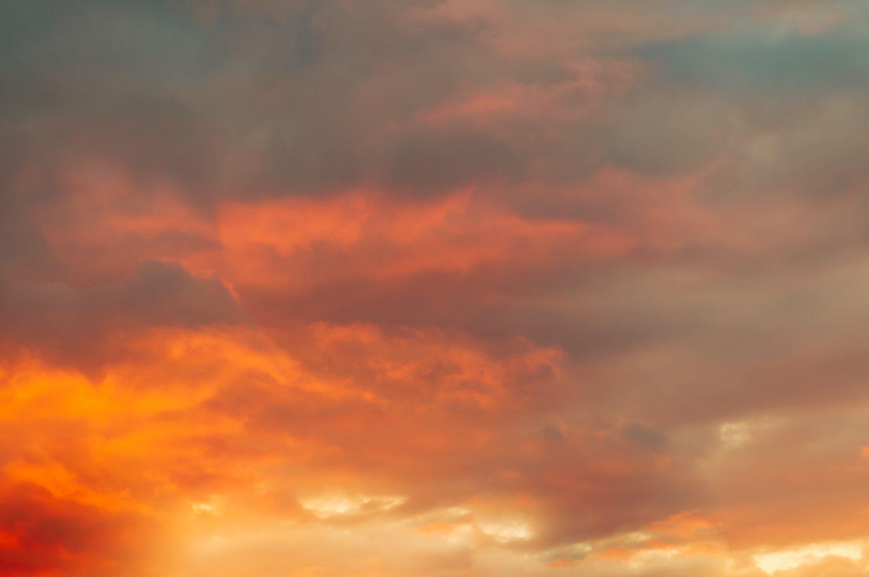 Sunset clouds smog fire heat glow sky