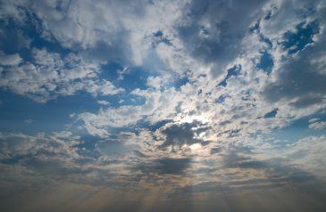 Sunshine on a Blue and Cloudy Sky