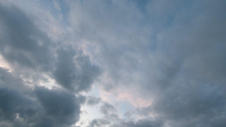 The clouds disperse