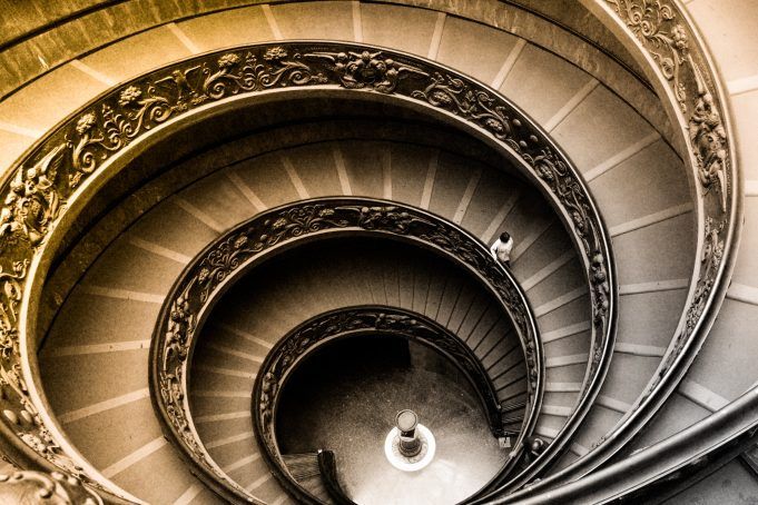 The Vatican Museums spiral staircase