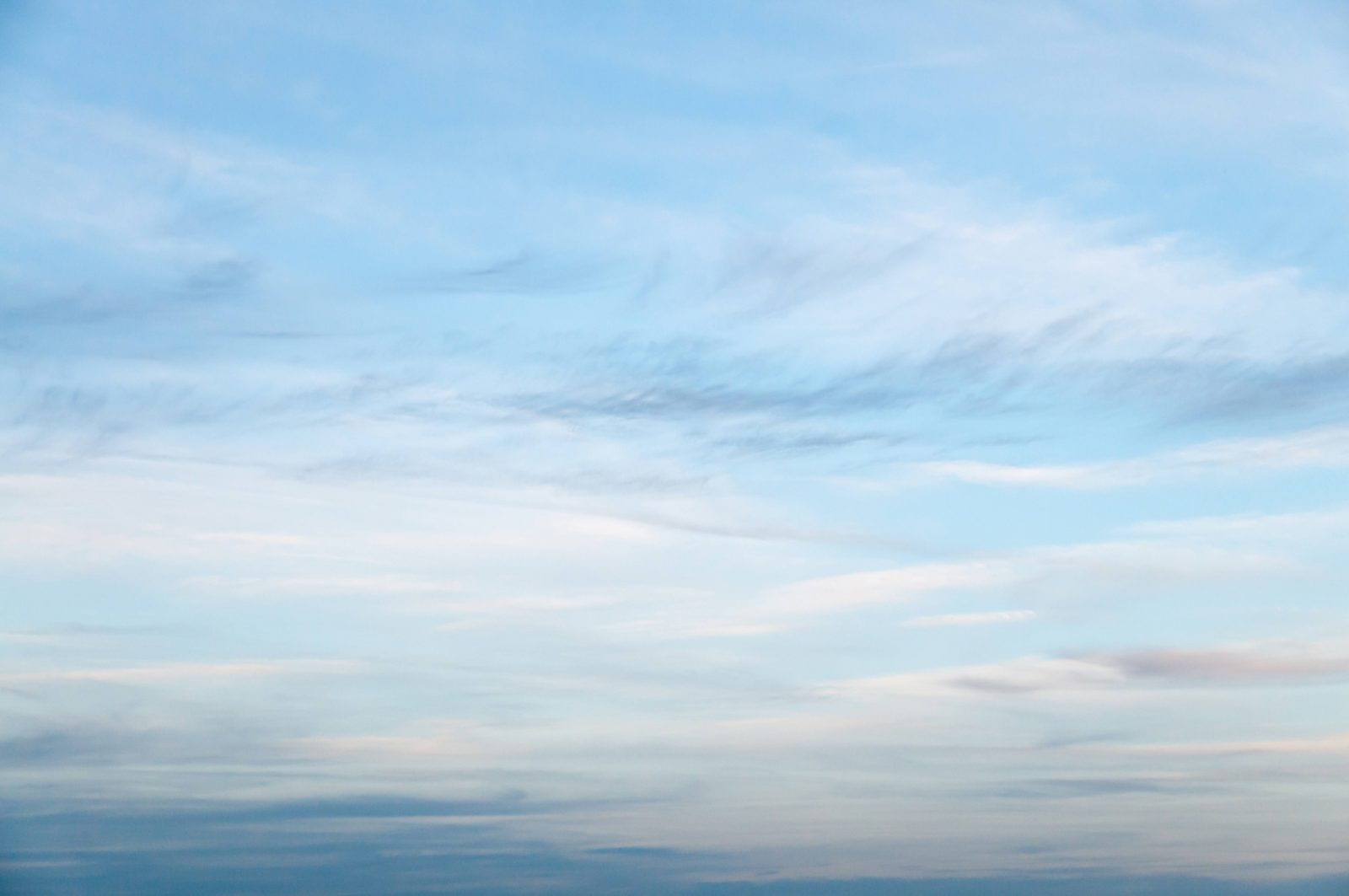 Thin layer of Clouds and Blue Sky