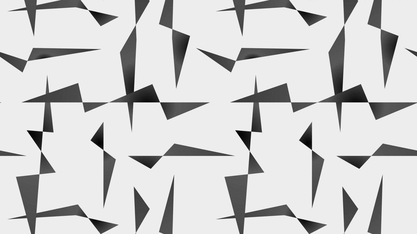Thunderbolts black triangles edgy seamless pattern