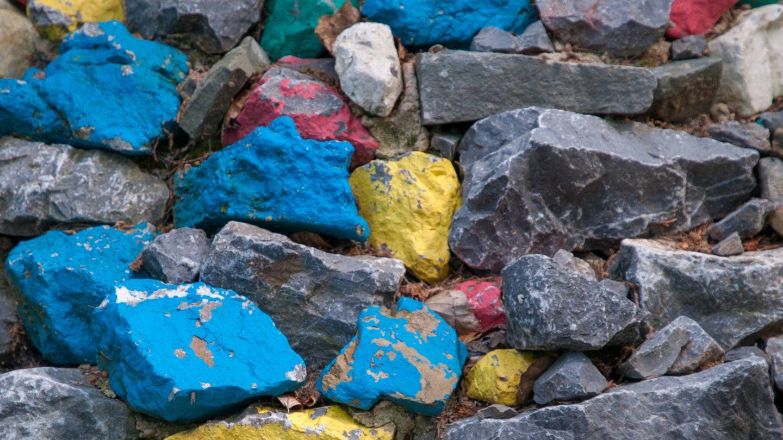 Tibetan colored stones texture