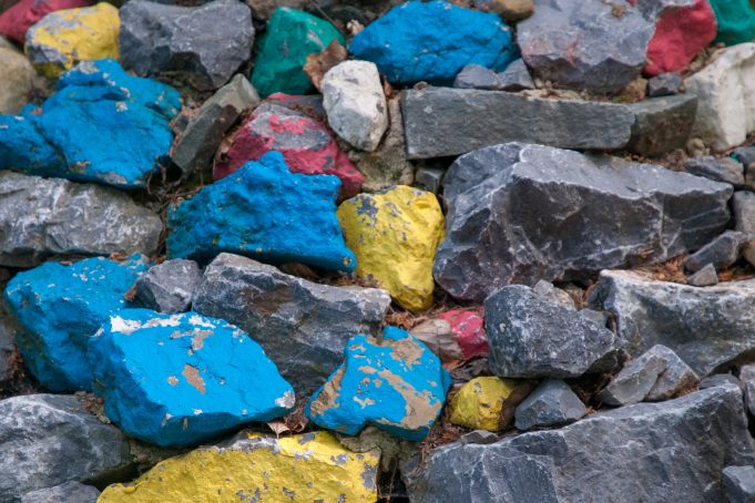 Tibetan colored stones texture