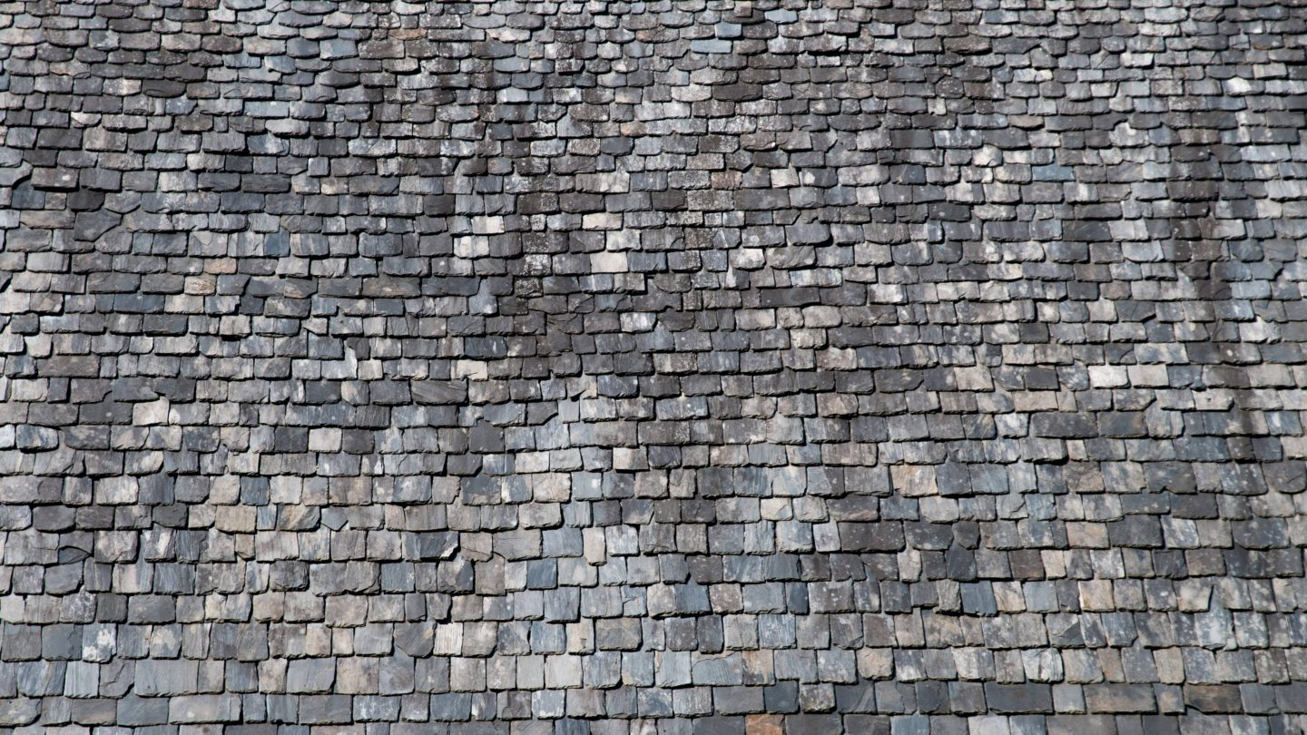 Traditional French stone roof tiles