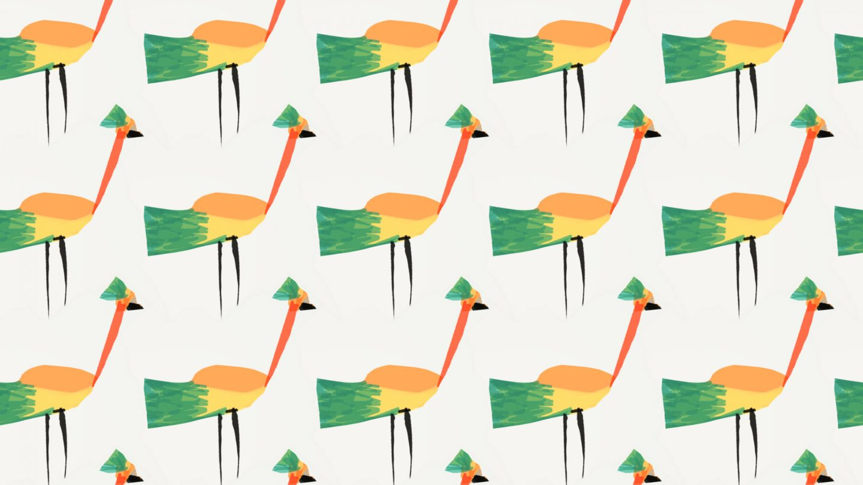 Tropical-Bird-Seamless-Pattern-White-Background