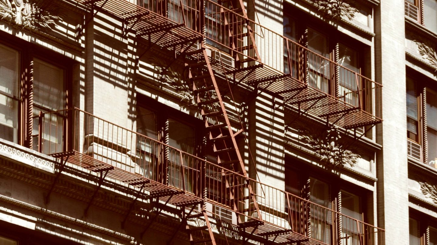 Typical New York Fire Escapes