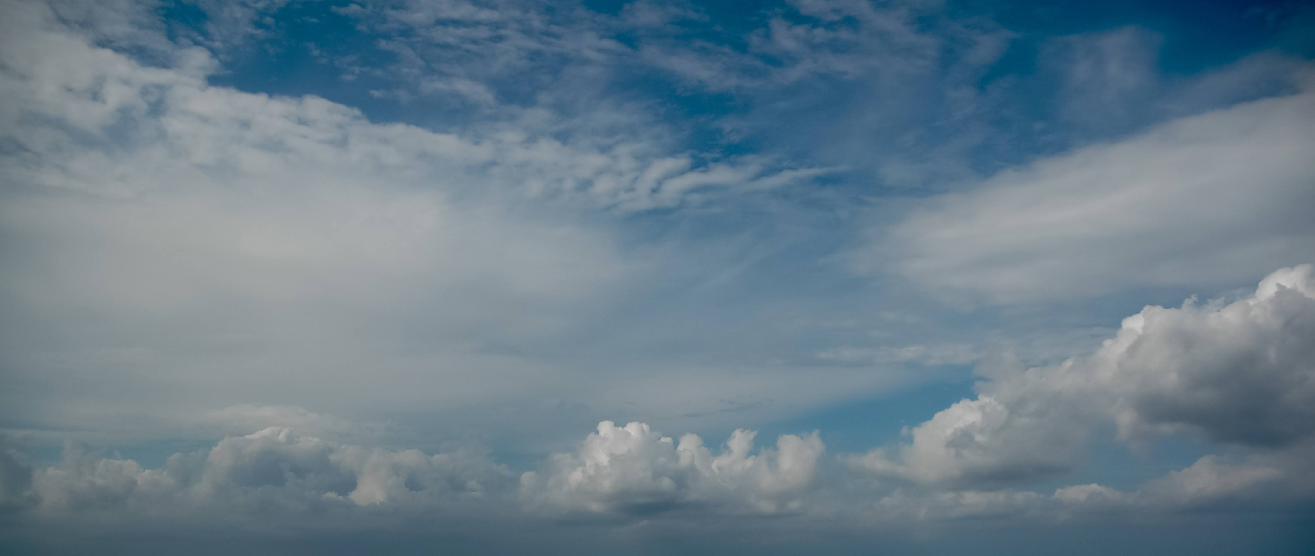 Various levels of clouds