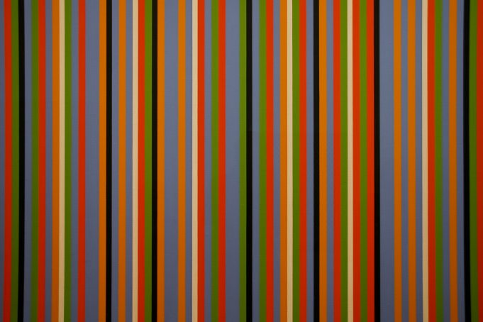 Vertical Colourfull thin Stripes Wallpaper