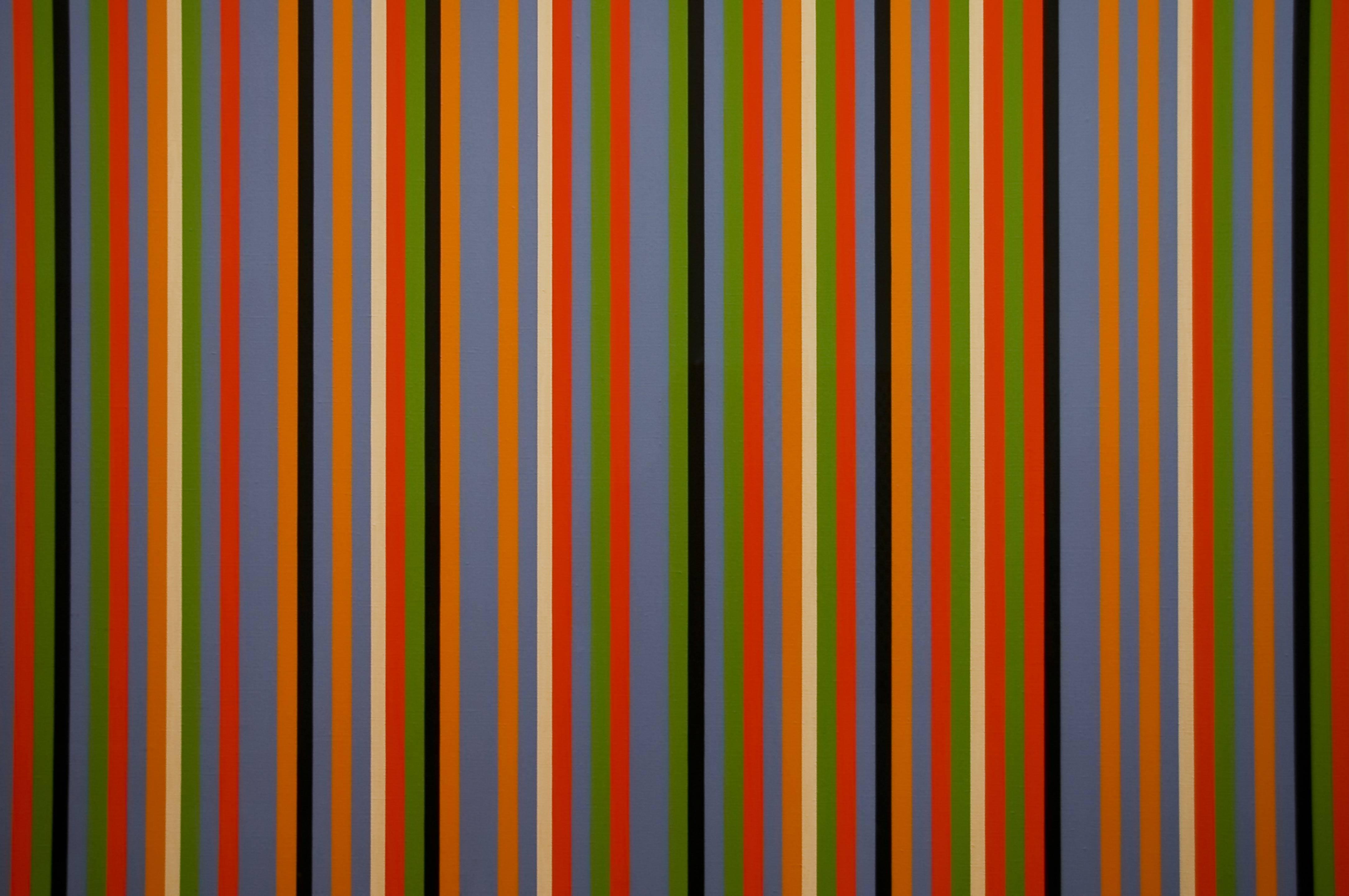 Vertical Colourfull thin Stripes Wallpaper