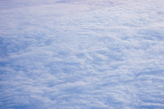 View clouds from above