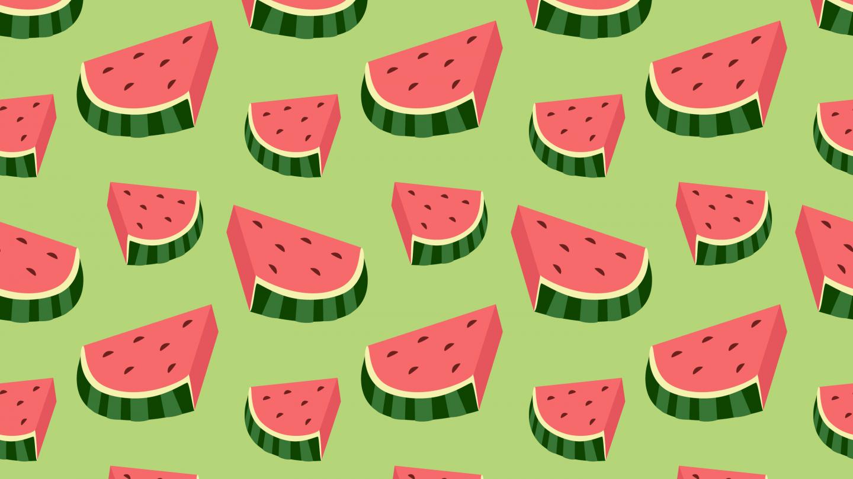 Water melon slices pattern wallpaper