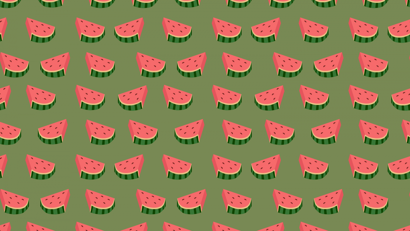 Water melon slices seamless pattern background