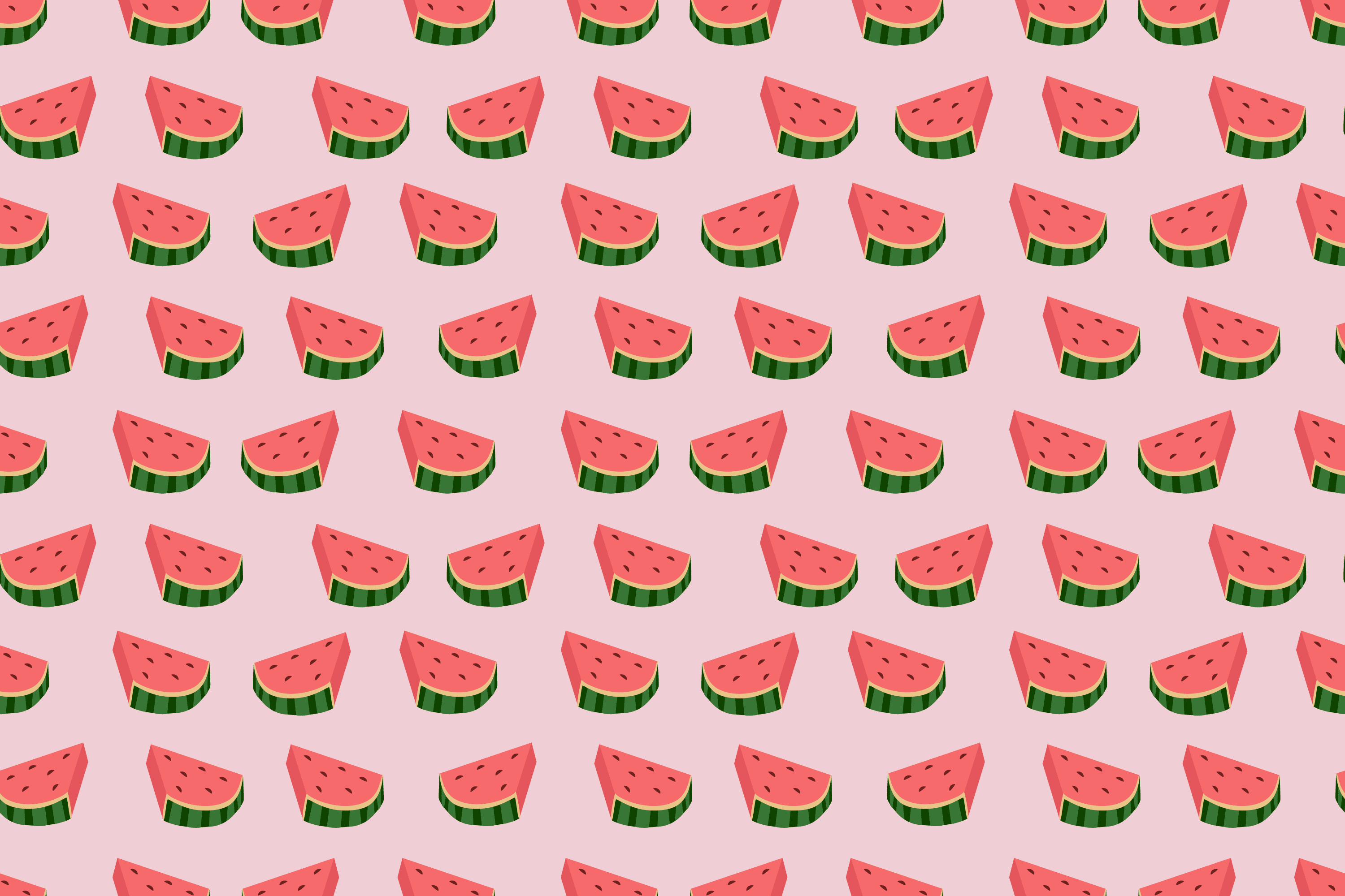 Water melon slices seamless pattern light background