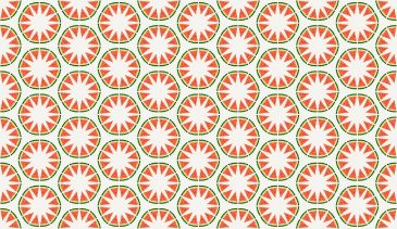 Watermelon Circle Star Pattern