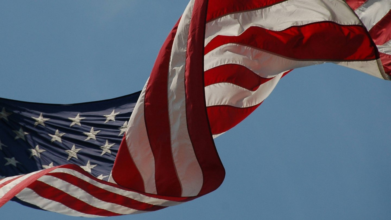 Waving American Flag Stars and stripes