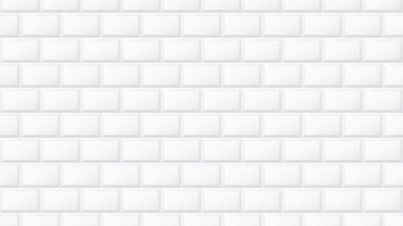 White Glossy finish beveled ceramic subway tile pattern