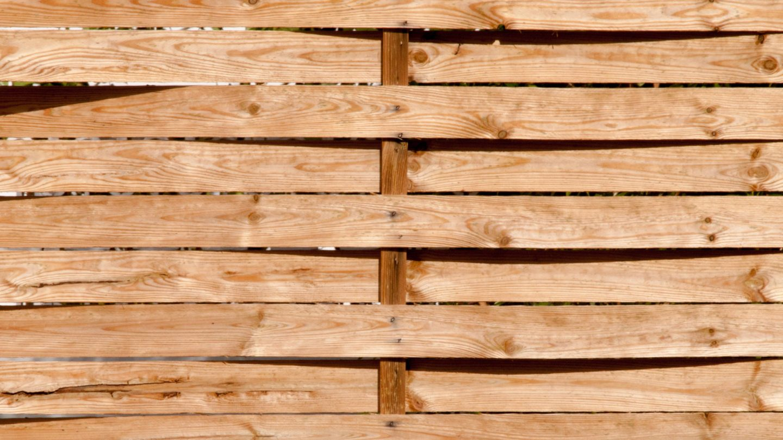 Wood Woven Garden Fence