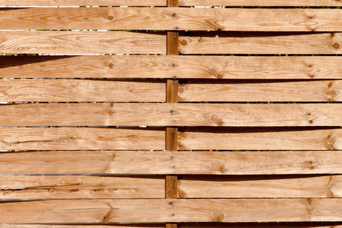 Wood Woven Garden Fence
