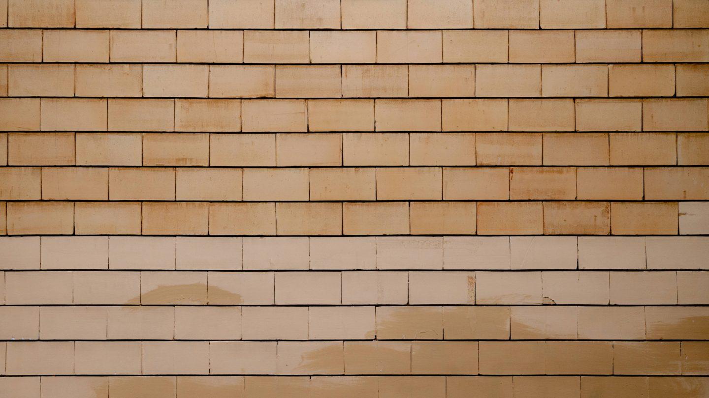 Yellow stone bricks wall