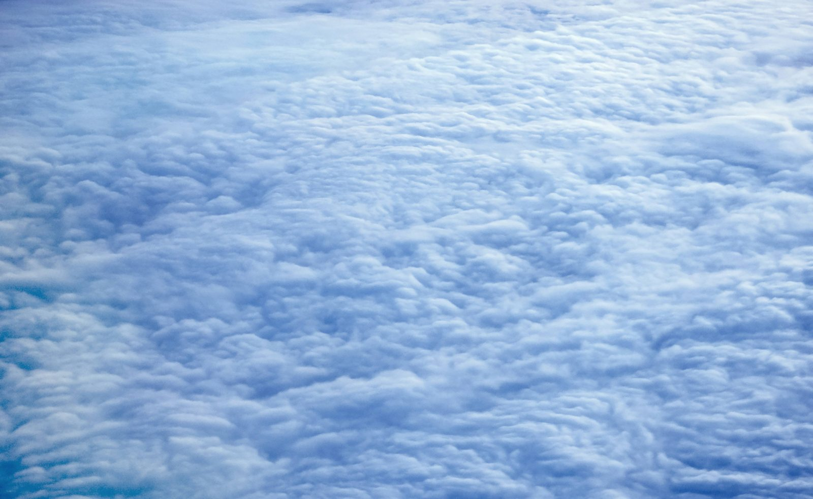 Aerial view clouds covered earth