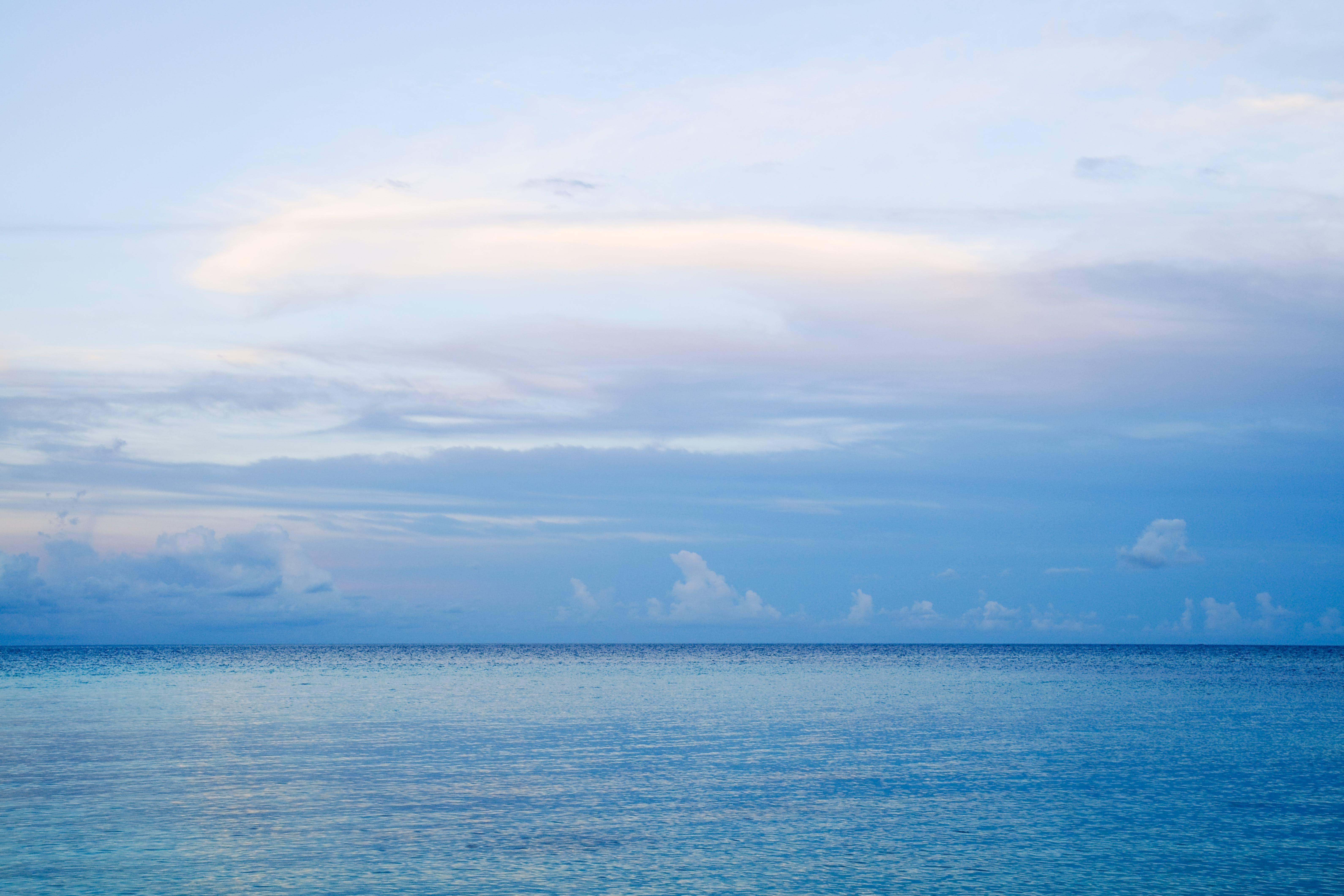 Blue sky at sea