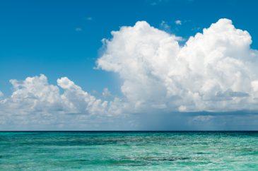 Cloudy sky at maldives