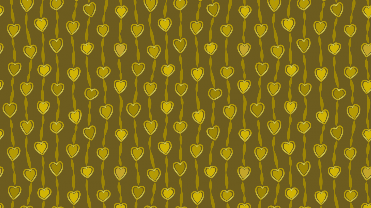 gold hearts connections seamless pattern
