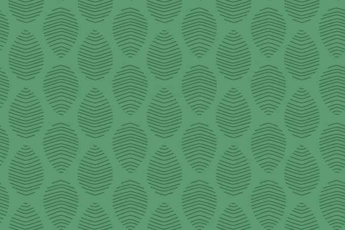 Green organic leaves pattern