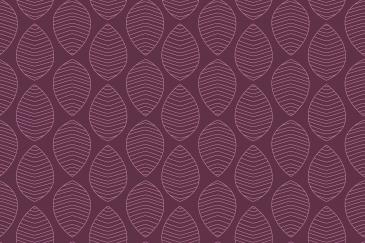 Organic shapes purple leaves pattern