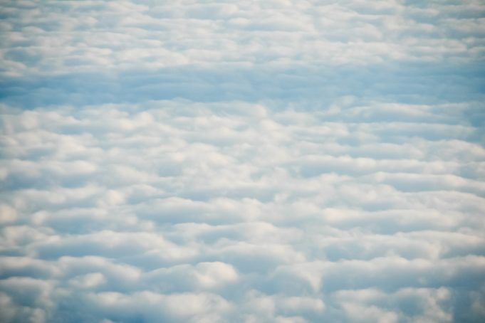 Soft aerial clouds sky