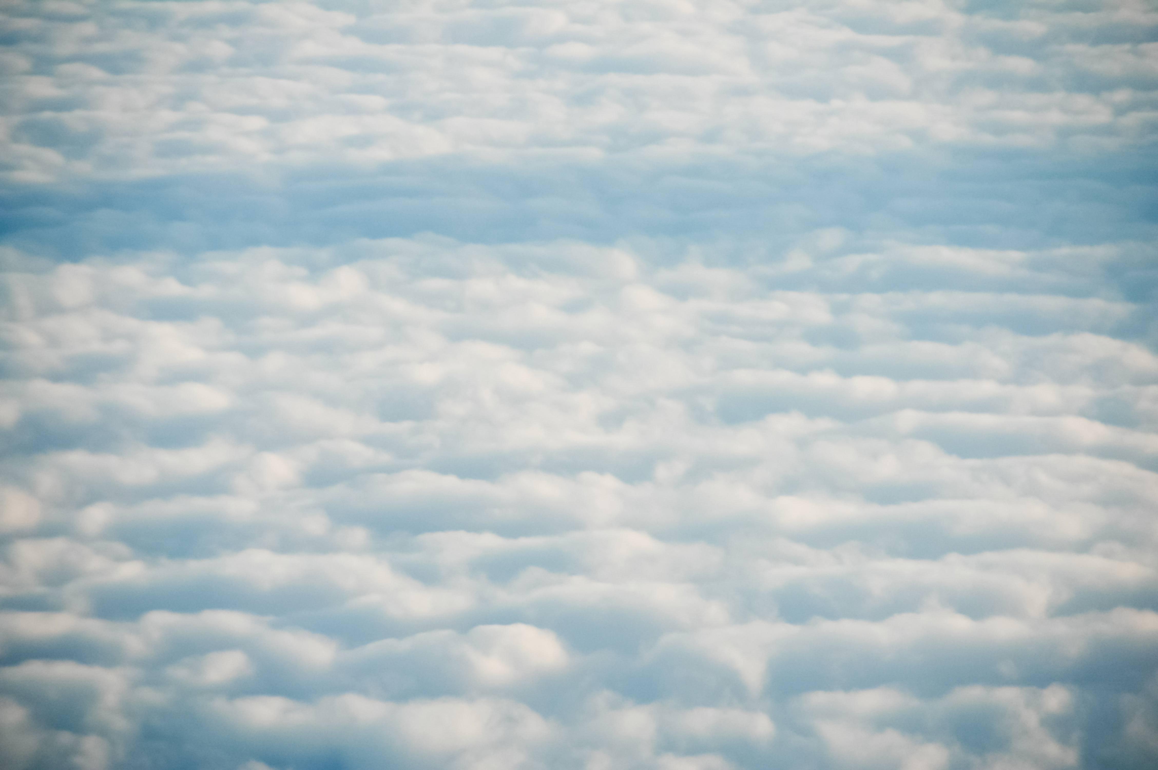 Soft aerial clouds sky