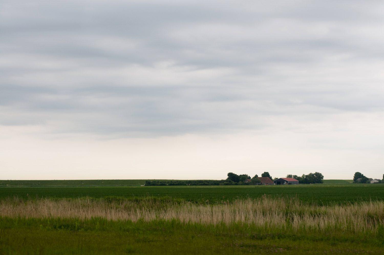 Soft cloudy sky landscape