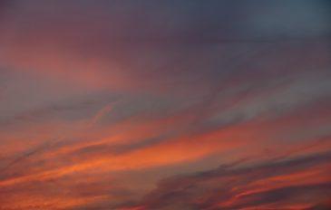 Soft cloudy sunset