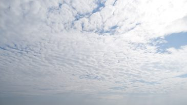Thin blanket of clouds