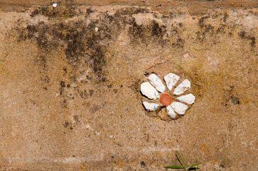 Wall flower stones
